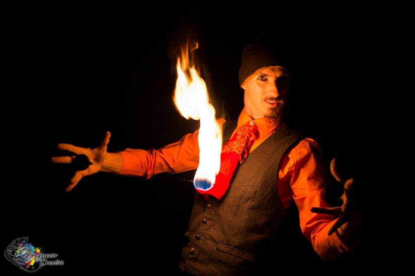 Fire performer Perth