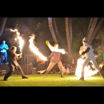 fire sword fighting